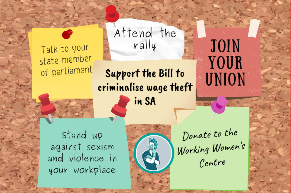 How to take action on: Wage theft & Violence in the workplace