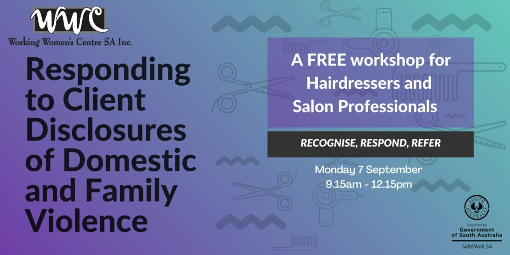 Responding to Client Disclosures of Domestic Family Violence for Hairdressers