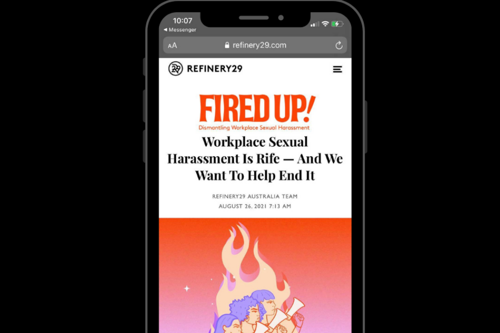 fired up logo Workplace Sexual Harassment Is Rife — And We Want To Help End It Refinery29 Working Womens Centre SA